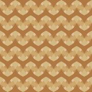 Geometric pattern with green beige and brown decorations - stock illustration