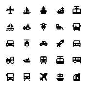 Transportation Vector Icons Set - stock illustration