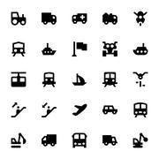 Transportation Icons Set - stock illustration