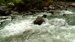 River near Cusco in the Andes of Peru Stock Footage