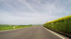 4K POV video footage of driving in rural region of Germany - stock footage