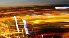 Trippy Long Expose Lights Streaks Stock Footage