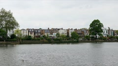Village in West London Stock Footage