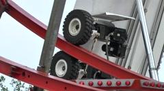 Big Ferris Wheel Drive Wheels Right Side Stock Footage