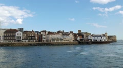 The old town of Portsmouth Stock Footage