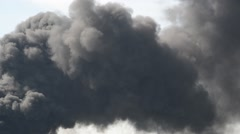 Lot of black smoke from the fire Stock Footage