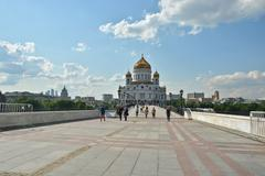 The Cathedral Of Christ The Savior. - stock photo