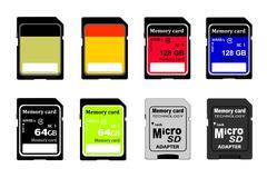 Memory card in vector Stock Illustration