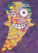 Happy Ghost Stock Illustration
