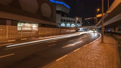 Busy traffic Time Lapse captured at at night. Street level. Stock Footage