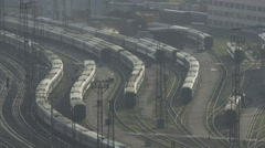Rail Cars Stand On The Sidings Stock Footage