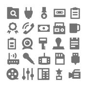 Advertising and Media Icons Stock Illustration