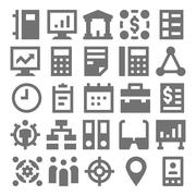 Teamwork, Organization Vector Icons Set Stock Illustration