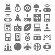 Video Game Icons Set - stock illustration