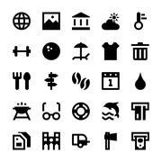 Tourism and Travel Icons set Stock Illustration