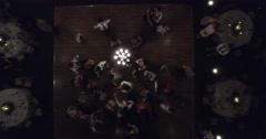 Dance Floor Tilt Up - stock footage