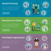Charity Donation Banners - stock illustration