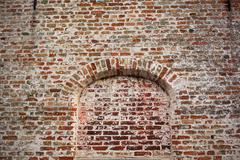 Bow window on brick wall Stock Photos