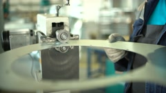 Metal Bending Machines - stock footage