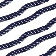 Marine navy blue rope seamless pattern - stock illustration