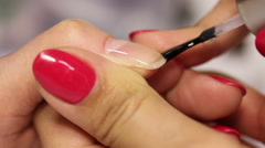 Drawing On The Nail Varnish Stock Footage