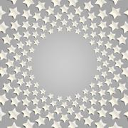 Grey stars in a circle with shadow. Eps 10. Stock Illustration