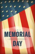 Happy Memorial Day background - stock illustration