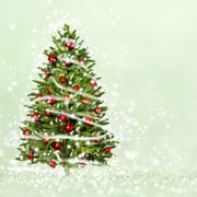 Christmas tree from the xmas lights - stock photo