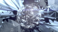Beautiful Abstract Mirrorball. - stock footage