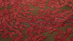 Red Fine Textiles Angled Close Up Dolly Shot  Stock Footage