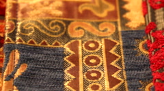 Fine Textiles Close Up Dolly Shot  Stock Footage