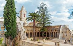 Church of the Pater Noster, Mount of Olives, Jerusalem - stock photo