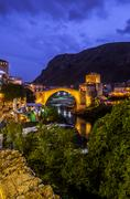 Old Bridge in Mostar - Bosnia and Herzegovina Stock Photos