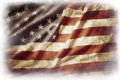 American flag on plain background - stock illustration