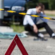 Car accident premises - stock photo