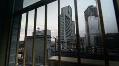 Berlin Window City Train Upper West Morning - stock footage