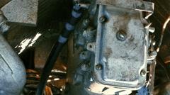 Diesel Motor on Boat Stock Footage