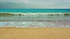 Wild tropical sandy beach with waves Stock Footage