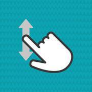 Communication design. Cursor icon. Colorful illustration , vector - stock illustration