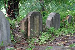 Old tombstones and graveyards Stock Photos