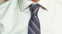 Man Takes the Tie Off the Neck Stock Footage