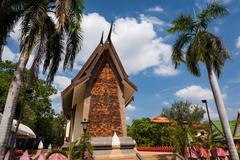 Sala Loi Temple entrance architecture, Korat - stock photo