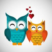 Animal design. owl icon. Isolated illustration , vector Stock Illustration