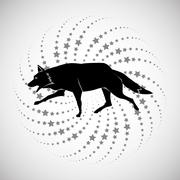 Animal design. wolf icon. Silhouette illustration , vector Piirros
