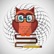 Animal design. owl icon. Isolated illustration , vector - stock illustration
