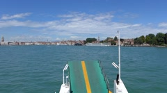 Venice, Italy. Panorama on the Boat Stock Footage