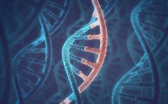 DNA and RNA molecules - stock illustration