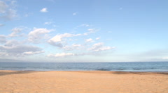 Peaceful Sandy Beach Setting No People Stock Footage