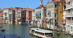 Venice Italy Grand Canal navigation. Venice background. Venice travel Stock Footage