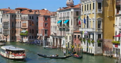 Venice, Italy Grand canal navigation. Venice Italy background. Venice Italy Stock Footage